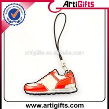 2016 Cute design shoe shape pvc phone charms