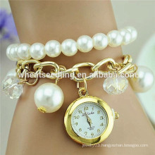 New design gilrs love pearl wrist watch for valentine's gifts