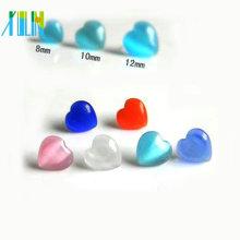 16 polegada 8mm gemstone coração de vidro grânulos de opala