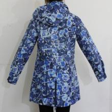 Flor azul con capucha Impermeable PU impermeable
