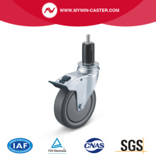 Braked Round Expander Swivel TPE Institucional Caster