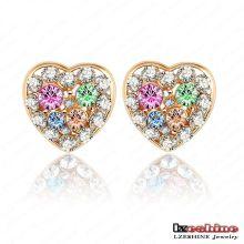 Swa Elements Boucles d'oreille en cristal de coeur pour femmes (ER0025-C)