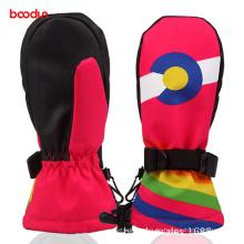 Bunte Greifer Palm Outdoor Sport Thinsulate Kinder Ski Handschuhe
