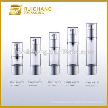 20ml / 25ml / 30ml / 40ml / 50ml Aluminium Airless Flasche für kosmetische Lotion Creme, Aluminium Kosmetik Airless Flasche