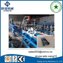 Línea de producción de rollo unistrut de acero ranurado 41x41