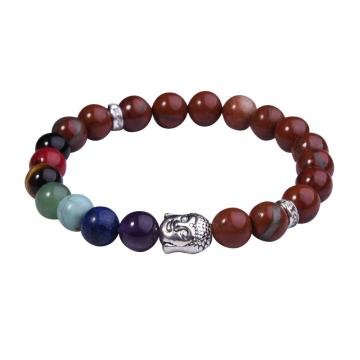 Natural Red Jasper 8MM Gemstone Buddhism Prayer Beads Bracelets