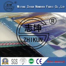 Tissu non-tissé bleu et blanc de Spunlace au sujet du nettoyage de famille (38g-100g)