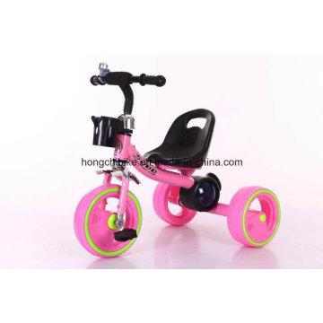 Bebé niños triciclo triciclo con ruedas de luz y música