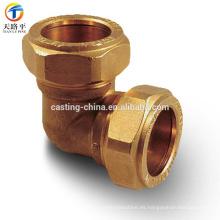 Accesorios de niple de latón para fundición de OEM de tubería de cobre