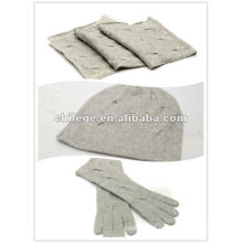 Christmas knitting cashmere hats,scarves & gloves sets