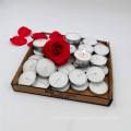 Hot selling factory wholesale high quality 100pcs per bag white tealight candle with aluminum holder