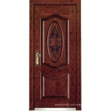 Puerta acorazada de madera de acero del estilo turco (LTK-A057)