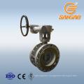 150lb 300lb dn100 pn16 ss 316 butterfly valve double flange triple offset butterfly valve