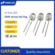 Sombrero de paja LED de 5 mm en línea
