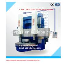 4 Jaw Chuck Dual Turret Le prix du tour vertical offert par la fabrication de tours verticaux à double broche CNC