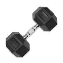 2021 New Rubber Gym Exercises Weight Lifting Hexagonal Dumbbell