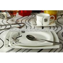 16 pcs simple design square shape fine bone china arcopal dinnerware