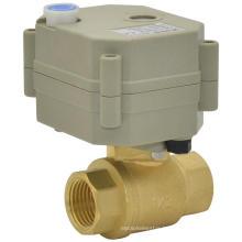 Dn15 1/2′′ 2way DC5V/12V/24V Electric Water Shut off Valve Brass Ball Valves