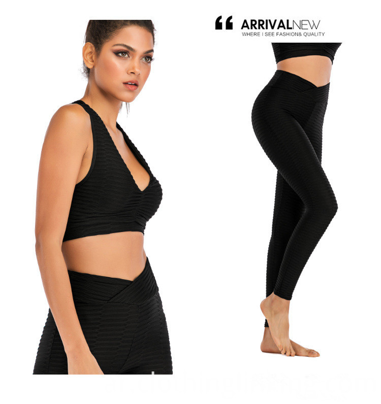 Black Yoga Fitness Gym Leggings Pants Tights