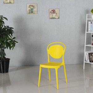 Eames Colored Stacking White Plastic Dining Chair