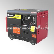 Grupo electrógeno diesel silencioso refrigerado por aire 4kw (DG5500SE)