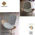 Tissu coussin chaise coque bois (GV-CH07)