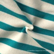 Cotton/Spandex Yarn Dyed Stripe Rib Fabric (QF13-0687)