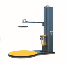Automatic luggage pallet stretch wrapping machine