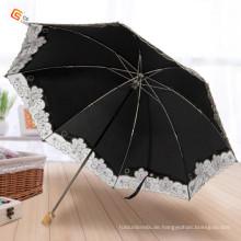 Holzgriff Design Tuch Falten Regenschirm (YS-2F1001A)