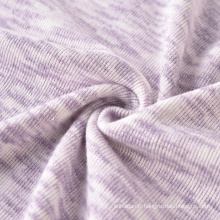 Commerce de gros Tissu tricoté Viscose Polyester Tissu teint dans l'espace