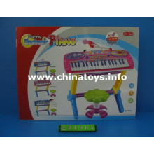 Juguetes de plástico eléctrico órgano con Mike Musical (221005)