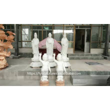 Stock hand carved China Buddhism small standing marble buddha statues for decoration