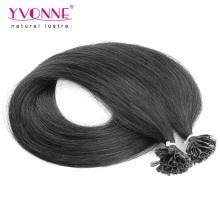 Black Color U Tip Remy Hair Extensions