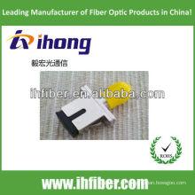 SC-ST Adaptador híbrido de fibra óptica cuerpo metálico simplex
