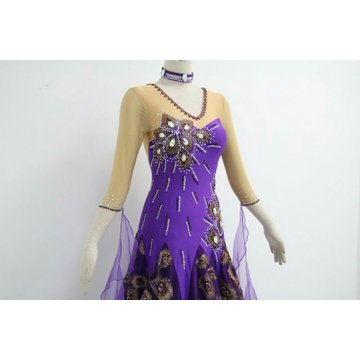 Purple Ballroom Dress Plus Size