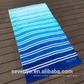 100% Cotton Gradient Blue Stripes Bath Towel Thin Swimming Beach Towel with logo BT-564 Wholesale China factory