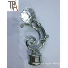 Aluminium with Crystal Curtain Cap