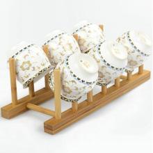 Égouttoir à vaisselle en bois de bambou