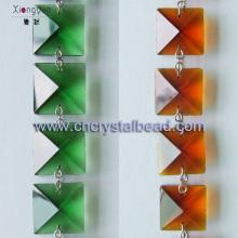 Lustre en cristal perles chaîne