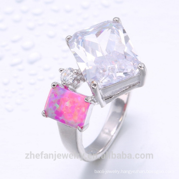 CZ And Opal Stone Ring Women Accessories From China Supplier