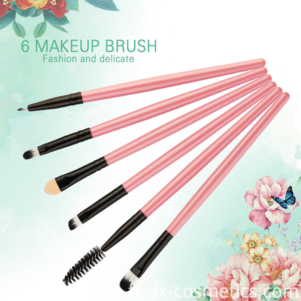 6 Piece Eye Makeup Brushes Set 1