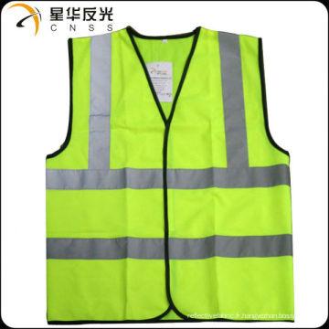 La veste de sécurité réfléchissante à haute visibilité EN471 classe 2 / CE la plus populaire