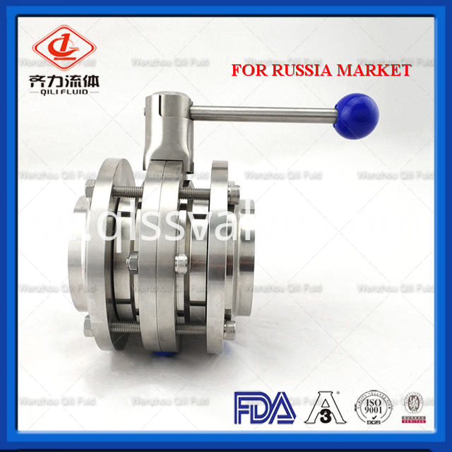 Sanitary Stainless Steel Butterfly Valve 112