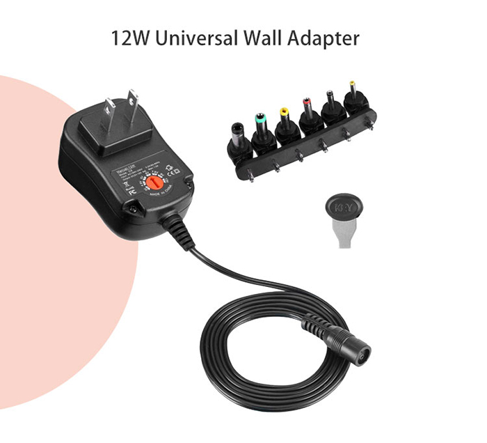 12w universal wall adapter