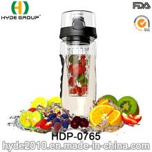 32oz Tritan Fruit Infuser Water Bottle, Plastic Sport Fruit Infuser Bottle (HDP-0765)