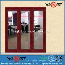 JK-AW9106 fancy three leaf interior aluminum sliding glass door