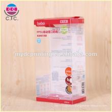 Boîte de pliage en plastique PVC de haute qualité sur mesure