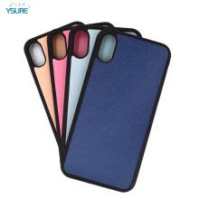 Cas de téléphone portable en cuir sur mesure pour iphone x