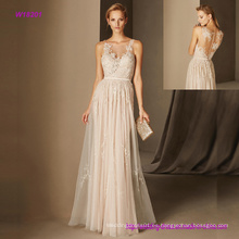 Vestido de novia elegante con apliques de encaje