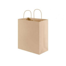 Recyclable Feature Handle packing shopping Brown Kraft Paper Bags